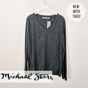 Michael Stars • New! Burnout Long Sleevw Tee